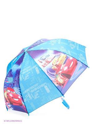 Зонт Тачки Играем вместе. Цвет: голубой, фиолетовый