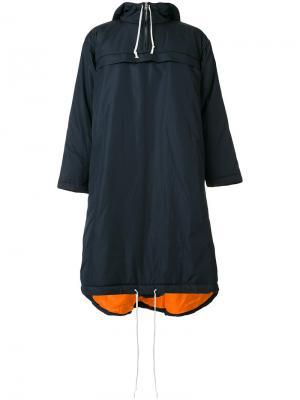 Дождевик с капюшоном на шнурке Comme Des Garçons Shirt Boys. Цвет: синий