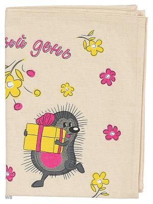 Полотенца Ёжики, 2 шт., с петелькой GrandStyle. Цвет: серый, розовый