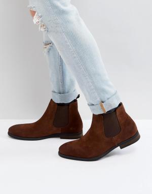 Call it Spring Светло-коричневые замшевые ботинки челси Andler. Цвет: рыжий