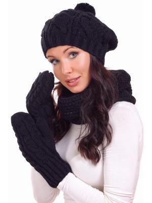 Варежки Siberika. Цвет: черный