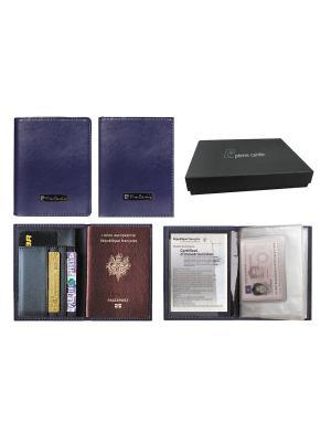 Набор Pierre Cardin: обложка для паспорта и водительского удостоверения синия серия Cardin. Цвет: синий