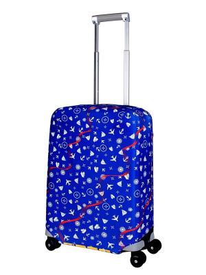 Чехол для чемодана Traveler S Coverway. Цвет: синий