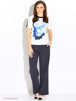 Блузка INCITY. Цвет: темно-синий, белый, зеленый