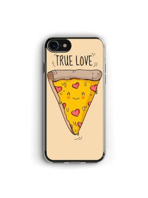 Чехол для iPhone 7/8 Настоящая любовь Boom Case. Цвет: горчичный, персиковый