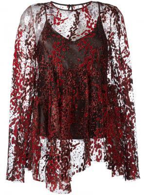 Блузка с блестками Opening Ceremony. Цвет: красный