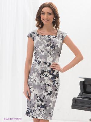 Платье Elena Shipilova. Цвет: серый, темно-синий