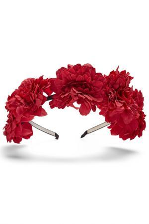 Ободок для волос Nothing but Love. Цвет: ярко-малиново-розовый, черный