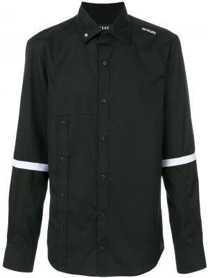 Рубашка с полосками на рукавах Icosae. Цвет: чёрный