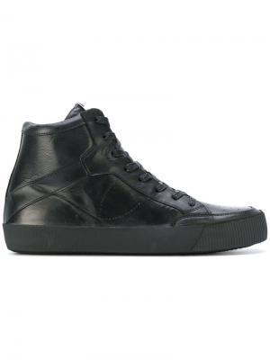 Кеды со шнуровкой Philippe Model. Цвет: чёрный