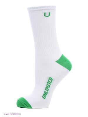 Носки, 3 пары Unlimited. Цвет: белый, зеленый