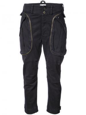 Укороченные брюки карго Faith Connexion. Цвет: чёрный
