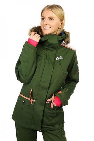 Куртка утепленная женская  Apply Khaki Picture Organic. Цвет: зеленый