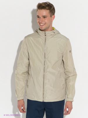 Куртка GUESS. Цвет: салатовый, светло-бежевый