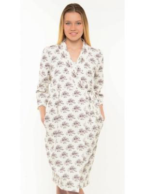 Платье-халат Ням-Ням. Цвет: молочный,коричневый