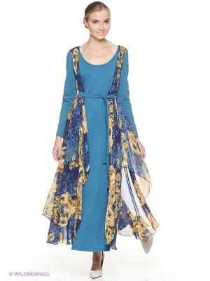 Платье ADZHEDO. Цвет: морская волна