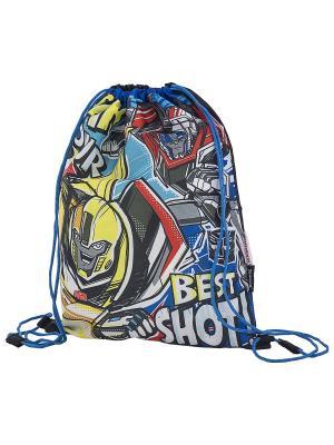 Мешок для обуви. Transformers Prime. Цвет: синий, желтый, красный
