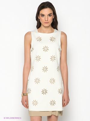 Платье SISTE'S. Цвет: кремовый, бежевый