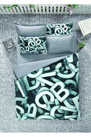 Комплект постельного белья Victoria. Цвет: white, black, grey