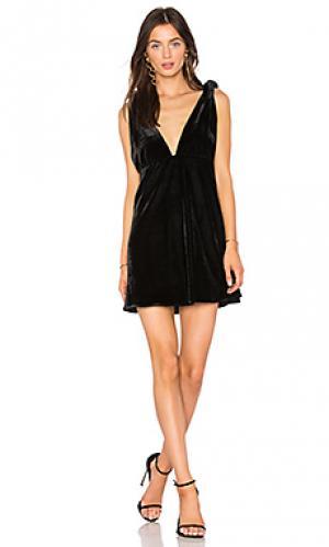 Мини платье с завязкой Line & Dot. Цвет: черный