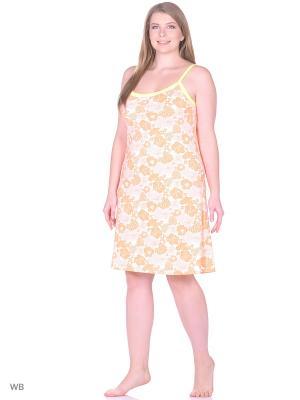Ночная сорочка женская lawiggi. Цвет: оранжевый