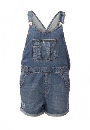 Комбинезон джинсовый Topshop Maternity. Цвет: синий