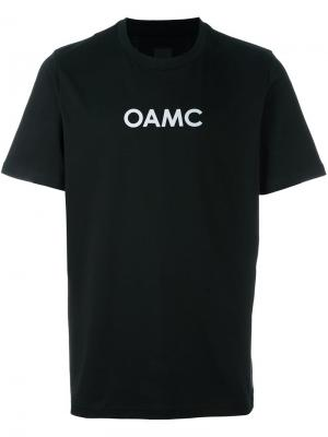 Футболка с принтом логотипа Oamc. Цвет: чёрный