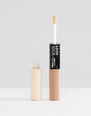 NYX Professional Makeup Контур и хайлайтер два-в-одном Make-Up. Цвет: коричневый
