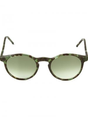 Солнцезащитные очки Miki Kyme. Цвет: зелёный