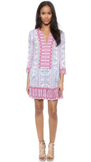 Платье Dahlia BCBGMAXAZRIA. Цвет: фуксия с оттенками