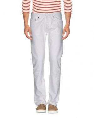 Джинсовые брюки RING. Цвет: белый