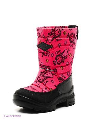 Сапоги KUOMA. Цвет: розовый, черный, оранжевый
