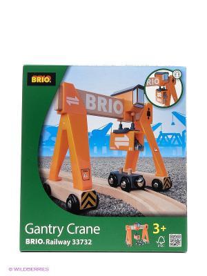 BRIO портовый кран с магн.,кабиной и вагончиком грузом,18х9х16см,кор.. Цвет: прозрачный