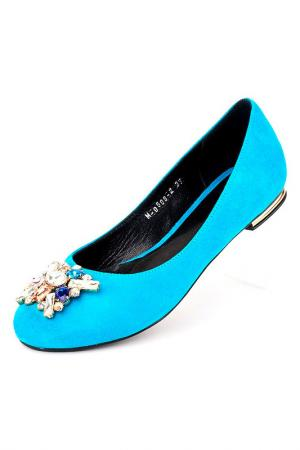 Балетки Riccorona. Цвет: голубой