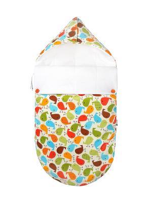Конверт для новорождённого Гули-гули (зимний) MIKKIMAMA. Цвет: красный, оранжевый, зеленый, голубой