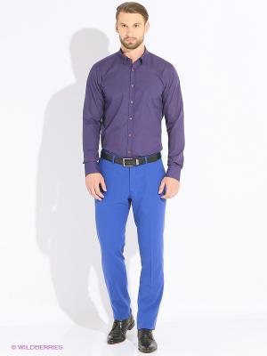Рубашка MONDIGO. Цвет: темно-фиолетовый, красный, темно-синий