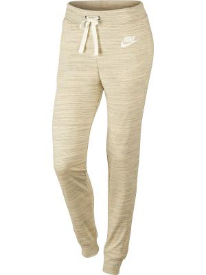 Брюки W NSW GYM CLC PANT Nike. Цвет: светло-бежевый
