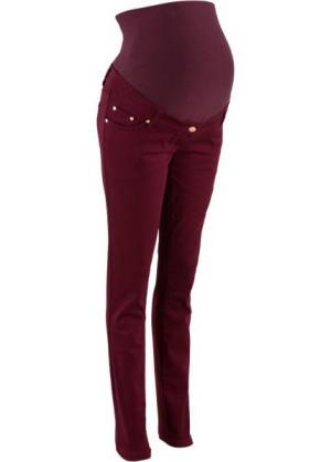 Мода для беременных: джинсы-скинни (темно-бордовый) bonprix. Цвет: темно-бордовый