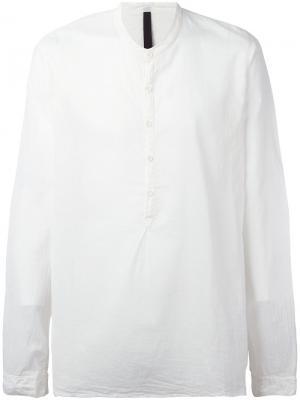 Рубашка с воротником-стойкой Poème Bohémien. Цвет: белый