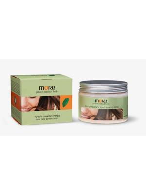 Маска для сухих и поврежденных волос на основе экстракта травы горец Moraz. Цвет: белый