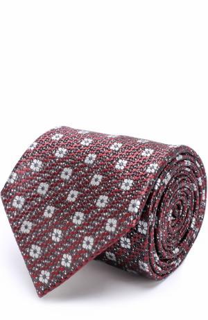 Шелковый галстук с узором Ermenegildo Zegna. Цвет: бордовый