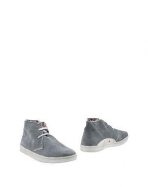 Полусапоги и высокие ботинки LE CROWN. Цвет: свинцово-серый