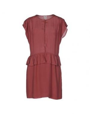 Короткое платье INTROPIA. Цвет: баклажанный