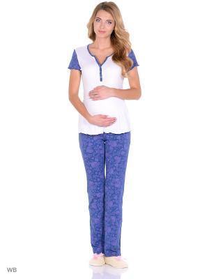 Комплект для беременных и кормящих FEST. Цвет: белый, синий