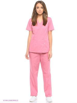 Блузка медицинская Med Fashion Lab. Цвет: розовый