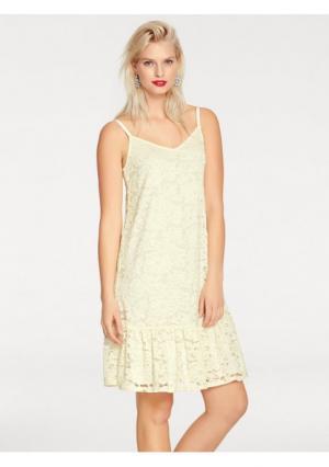 Платье Rick Cardona. Цвет: экрю