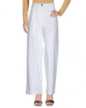 Повседневные брюки BARENA. Цвет: белый