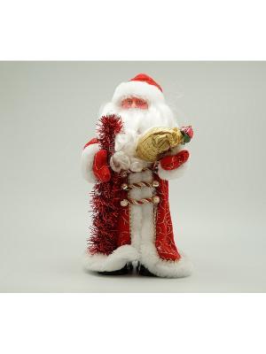 Фигурка декоративная Дед мороз 30см красный Яркий Праздник. Цвет: красный