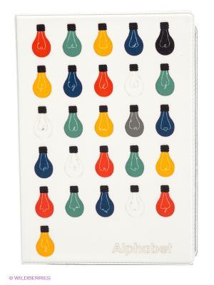 Обложка для автодокументов Алфавит лампочек Mitya Veselkov. Цвет: белый, зеленый, желтый