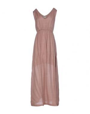 Длинное платье SIYU. Цвет: пастельно-розовый